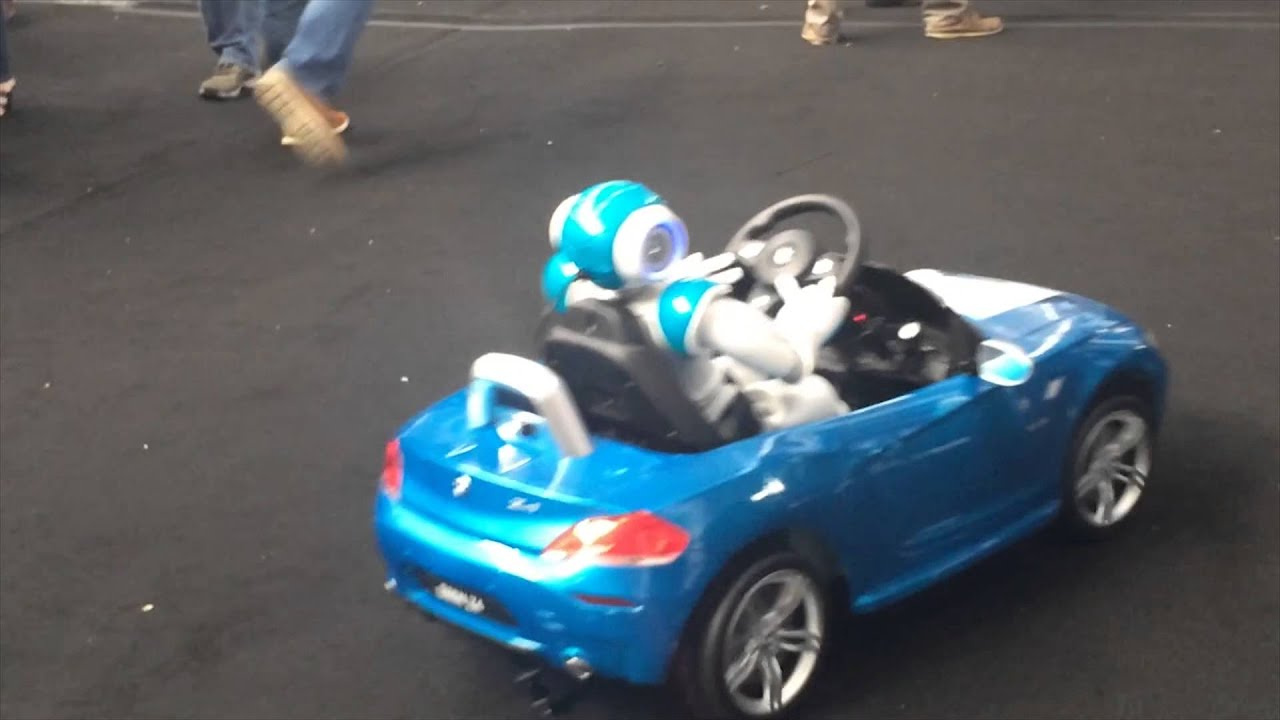 Nao Robot Drives Autonomously It S Own Car Youtube