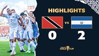 Highlights: Trinidad  Tobago 0-2 El Salvador - Gold Cup 2021