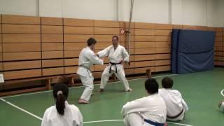 Andre Bertel teaching Karate classes in Germany