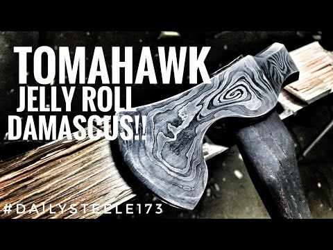 TOMAHAWK FROM JELLY-ROLL DAMASCUS!!!