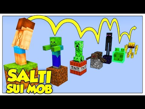 L'IMPOSSIBILE PARKOUR SOPRA I MOB DI MINECRAFT ITA!