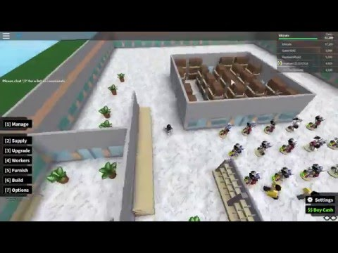 [Roblox]Retail Tycoon ALL MARBLE FLOORS! New guard update