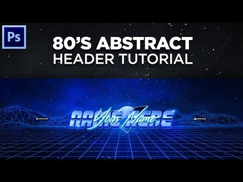 Tutorial: How To Make An Abstract 80's Style Twitter Header/YouTube Banner!
