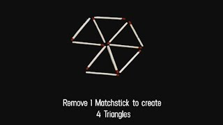 21 matchstick puzzles and brain teasers (only for genius)