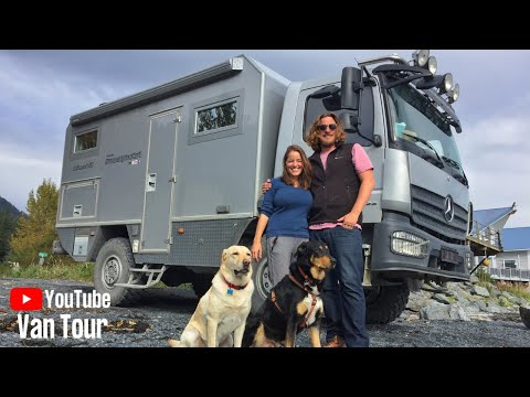 Couple lives TINY and TRAVELS the world in 4x4 Expedition Ve