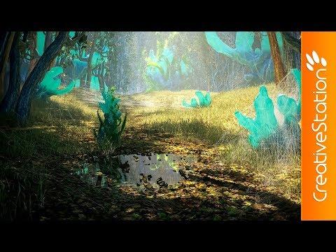 Fantasy forest creation - 3D Speed art (#3D-Coat, #3dsmax. #Corona Renderer) | CreativeStation