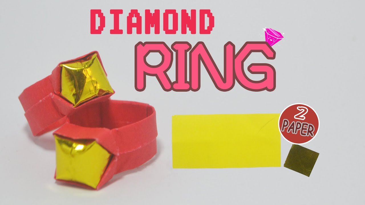 valentines day how to make a paper diamond ring