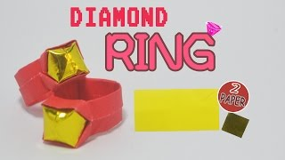 Valentine's day - How to make a paper diamond ring - Origami ring easy - оригами кольцо