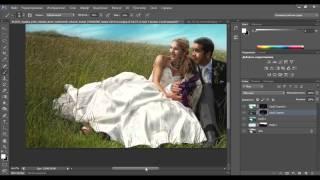 Видеоурок Photoshop Художественная обработка свадебного фото