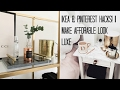 IKEA HACKS & PINTEREST DIY'S | MAKE AFFORDABLE LOOK LUXE
