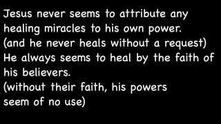 Prayers for Healing -- Jesus Quotes & Sayings on  MIRACLES  -- and thoughts of a Dying Man