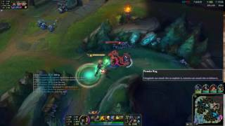 League Play | How to Dodge Cassiopeia ult by Placing a Barrel 【League of Legends】