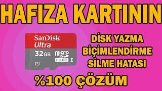 Hafıza Kartı Disk Yazma Koruma Hatası (BİÇİMLENDİRME HATASI) %100 ÇÖZÜM