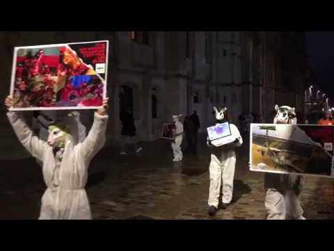 Rouen : action de L 214 le soir d'Halloween