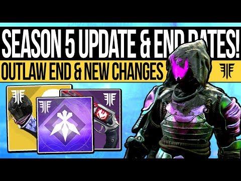 Destiny 2 | SEASON 5 UPDATE & SUPER BUFFS! Outlaw Season End, Exotic Update, Final Events & Rewards! thumbnail