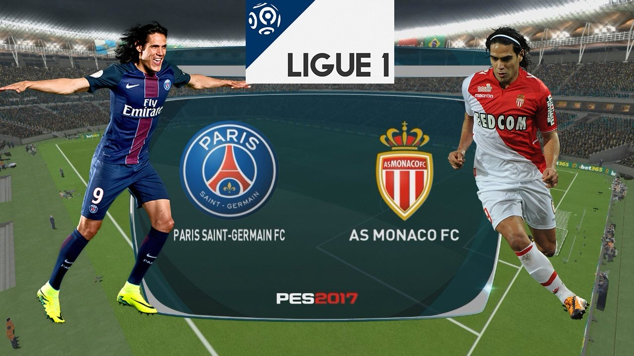 Psg Vs As Monaco 29 01 2017 Pes 2017 Youtube