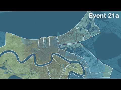Animated Flooding of New Orleans: Hurricane Katrina Exhibition
