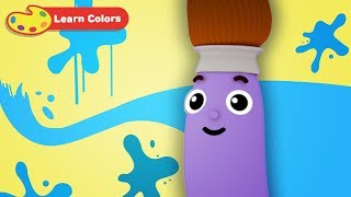 Learning Colors with Petey Paintbrush   Early Learning Videos for Baby Brain Development