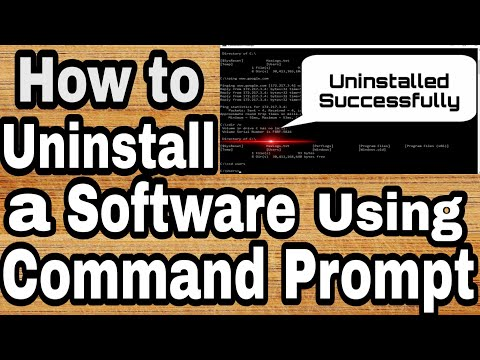 How To Uninstall Program From Command Prompt Programs