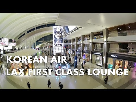 LUXURY AT LAX - KOREAN AIR FIRST CLASS LOUNGE TOUR