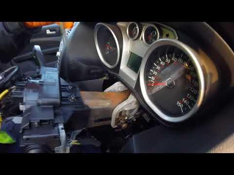 How to remove the Ford Focus 1.6 ignition lock / Как вытащить  замок зажигания Ford Focus 1 6