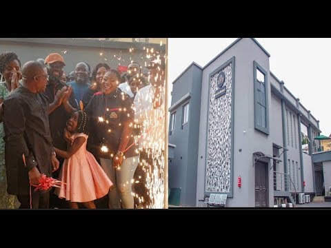 Pregnant Mercy Johnson goes Emotional as she opens hotel with husband &daughter, In &Out would shock