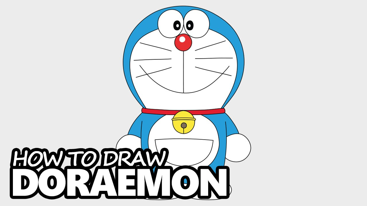 How To Draw Doraemon Easy Step By Step Video Lesson Youtube