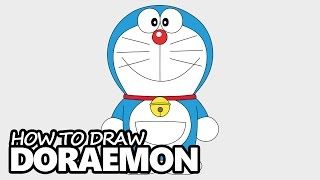 How to Draw Doraemon - Easy Step by Step Video Lesson
