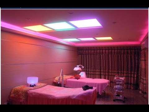 RGB LED Panel Light Ceiling Surface Embedded Mounting - YouTube