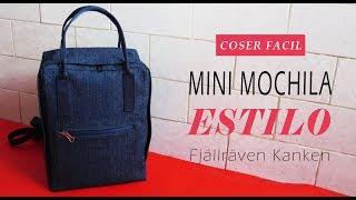 Mini mochila inspirada en Fjallraven Kanken   Coser Fácil