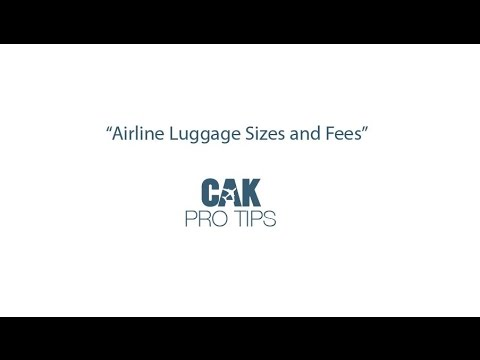Airline Luggage Sizes And Fees
