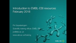 Introduction to EMBL EBI resources