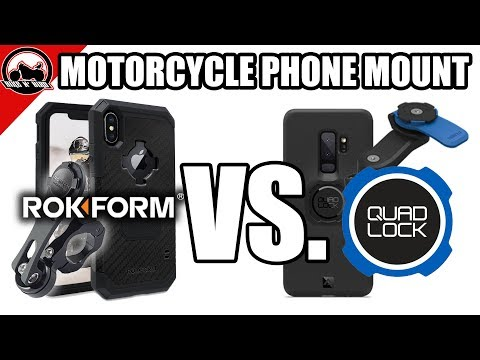 The Best Motorcycle Phone Case Mount - Rokform Vs. Quad Lock