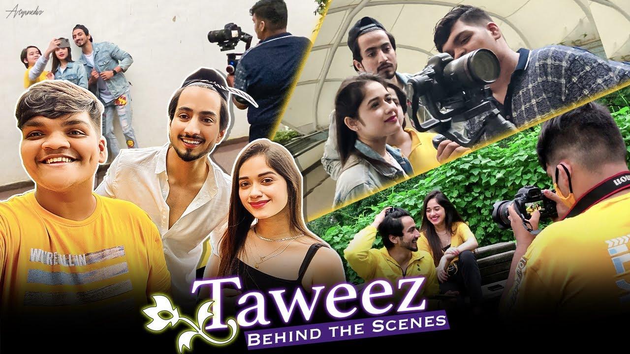 Taweez Behind The Scenes | Smileplease | Jannat zubair | Mr Faisu | My 1st music album shoot