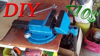 Поворотні лещата своїми руками / Поворотные тиски своими руками/ homemade table vise (DIY)