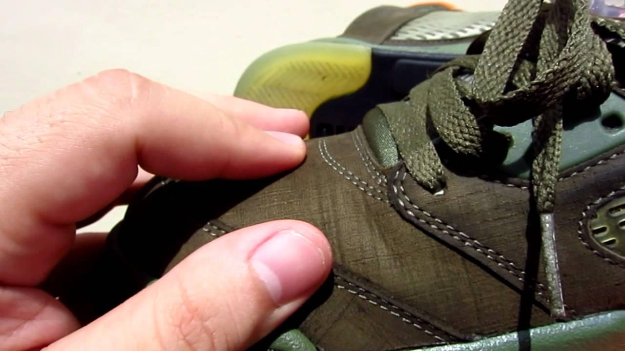 the best attitude a665f e90ba Nike Air Jordan 5 Army Olive / Orange Retro 314259-381