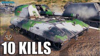 Коричневое ЗЛО 💩 10 фрагов на АРТЕ 💩 World of Tanks  G.W. E 100