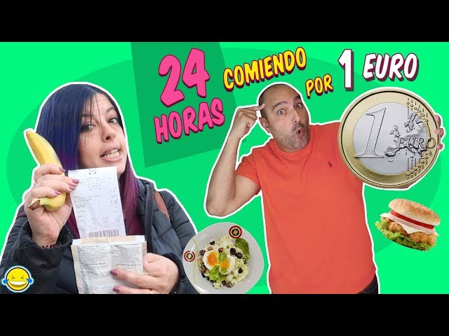 🍎 24 HORAS COMIENDO por 1€ al DÍA | Only Spend €1 Food for 24 Hours | Momentos Divertidos