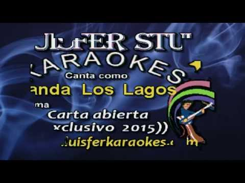 Banda Los Lagos - Carta abierta - Karaokes demo 2015