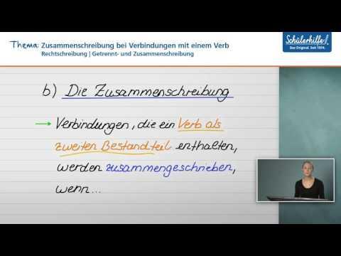 Zusammen-& Getrenntschreibung // Rechtschreibung // Deutsch // Schülerhilfe Lernvideo