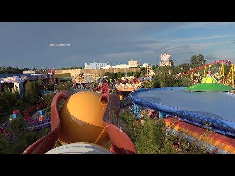 Slinky Dog Dash POV On-Ride HOLIDAYTIME 4K Ultra HD, Toy Story Land, Disney Hollywood Studios