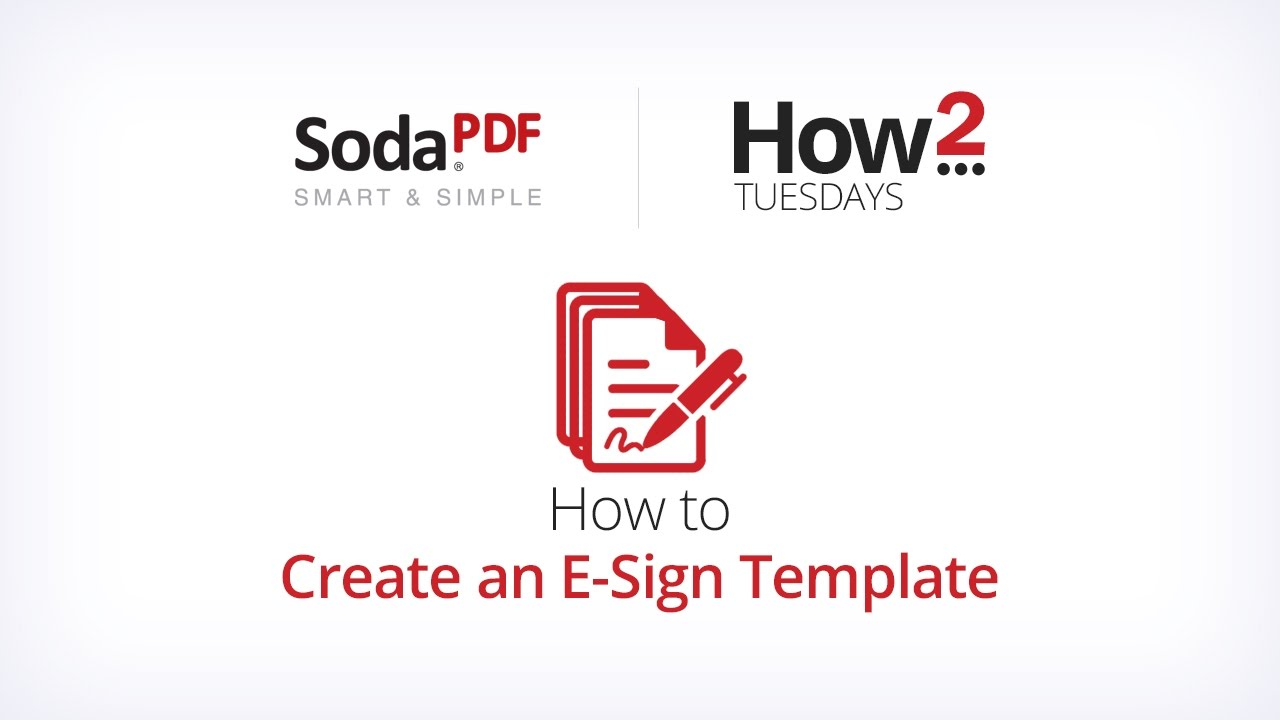 how to create an e sign template youtube