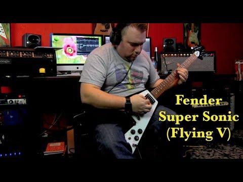 fender super sonic flying v youtube. Black Bedroom Furniture Sets. Home Design Ideas