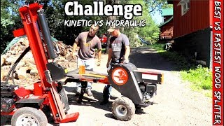 Head to head Challenge- Toro Hydraulic Log splitter vs Powerking Kinetic Log splitter