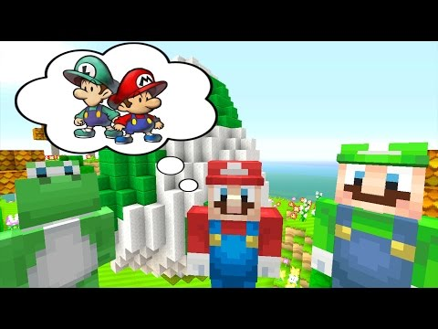 Minecraft Wii U - Super Mario Series - Mario and Luigi Meet Yoshi! [194]