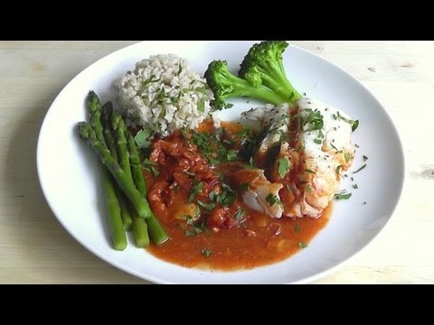 Steamed Fish with Tomato sauce How to cook healthy & delicious food
