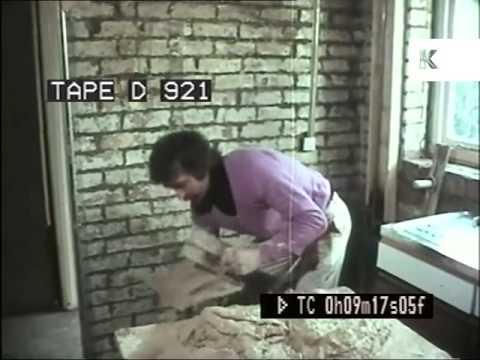 1970s UK Plasterer at Work