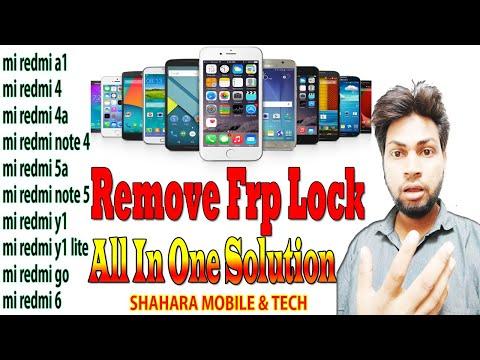 REDMI Mi y1 FRP unlock  without pc