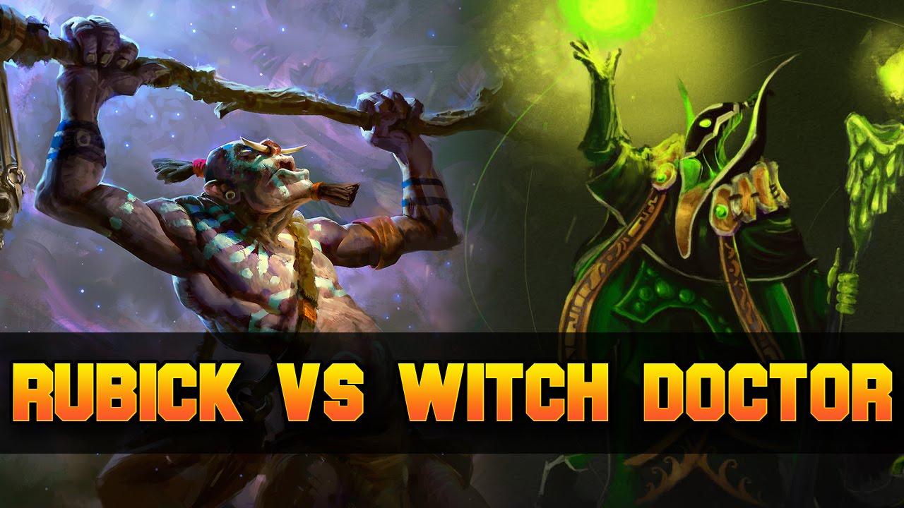 Dota  Rubick Vs Witch Doctor