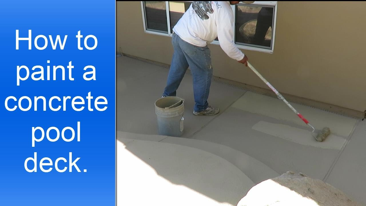 How To Paint A Concrete Pool Deck Youtube